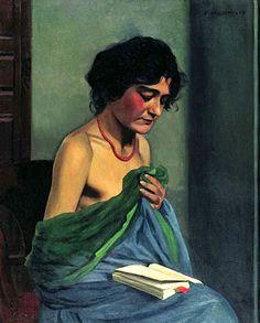 Femme lisant / Félix Vallotton