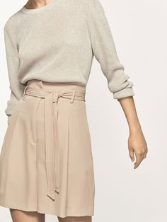 Autumn Spring summer 2017 Women´s BERMUDA SHORTS WITH TIED DETAIL at Massimo Dutti for 89.5. Effortless elegance!