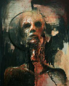 """Saint."" Rhyn Williams. #art Mixed Media on Canvas."