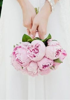 How about a bouquet of pink peonies exclusively for stunning bridal flowers? They're immaculate! Be inspired by these 15 Of The Prettiest Pink Peonies For Your Wedding • Wedding Ideas magazine