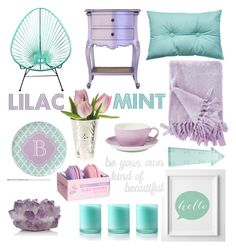 """LILAC & MINT"" by mashatosha ❤ liked on Polyvore featuring interior, interiors, interior design, home, home decor, interior decorating, Poste, McCoy Design, Dibbern and New Look"