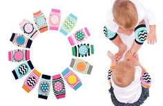"""he Cherry Zebra:  Keep your babie's knees happy while crawling with a pair of Happy Knees, protective pads for little crawlers and early walkers. Perfect for use on carpet, hardwood floors, and even outdoors! One size fits most. Size: 6"""" x 3.5"""". https://www.facebook.com/thecherryzebra"""