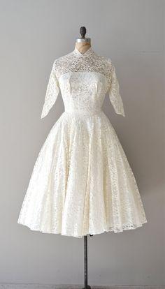 Dolce Cuore wedding dress vintage 1950s lace by DearGolden