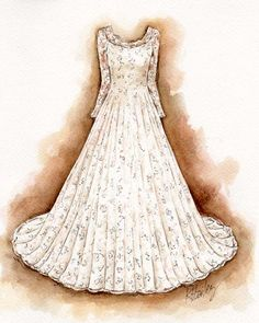 Kristina Bailey is an artist and designer in Oak Park, IL. Dress Design Sketches, Fashion Design Drawings, Fashion Sketches, Fashion Illustrations, Dress Painting, Dress Drawing, Clothing Sketches, Beauty Illustration, Dress Picture