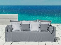 4 seater garden sofa with removable cover GHOST OUT 16 by Gervasoni design Paola Navone