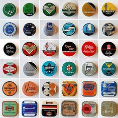 Retro tin box designs