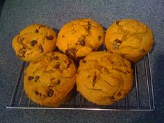 Chocolate Chip Pumpkin Muffins This recipe has been a staple in my holiday eating for several years. For the last couple of years they have been the Thanksgiving Day breakfast of choice at the be...