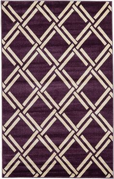 Purple Trellis Area Rug