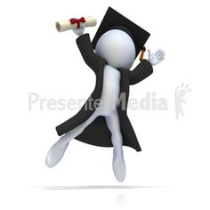 Graduate with Diploma Jumping for Joy Presentation clipart Valentine's Day Emoji, Cartoon Character Pictures, 3d Presentation, Powerpoint Animation, 3d Icons, Emoji Images, 3d Man, Sculpture Lessons, 3d Figures
