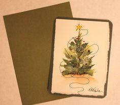 Christmas tree card - etsy