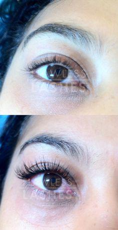 Semi permanent eyelash extensions!