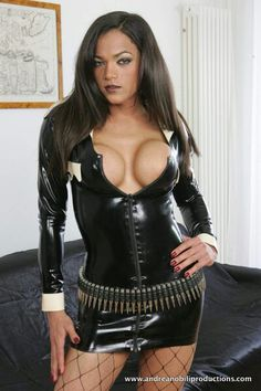Latex t girl