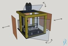 How I built my DIY printer enclosure with tips and ideas how to build yours. Goes through the whole process from measure and design to build and finish. 3d Printing Business, 3d Printing Diy, 3d Printing Service, Computer Projects, 3d Printer Projects, Cnc Projects, Imprimente 3d, Build A 3d Printer, Useful 3d Prints