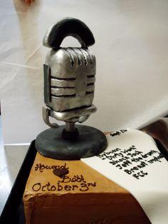 Radio Microphone Birthday Cakes
