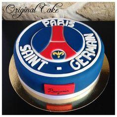 Psg, Soccer Birthday Cakes, Soccer Cake, Sweets Cake, Cupcake Cakes, Bolo Paris, Paris Decor, Paris Saint, Cakes For Boys