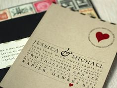 Oh So Beautiful Paper: Love Letter-Inspired Wedding Invitations