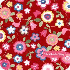 Flower Sugar Red Simple Florals Yardage SKU# 30284-30 - Fat Quarter Shop