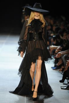 Is it just me, or does this look like a wicked witch Halloween costume?Saint Laurent RTW Spring 2013