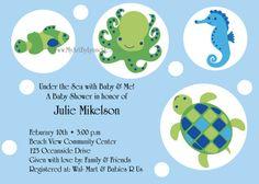 Ocean Bubbles Baby Shower invitation