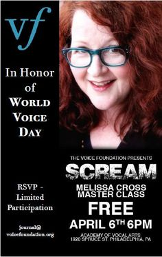 This Saturday night! It's our first event with Saturday Night, Master Class, The Voice, World, The World