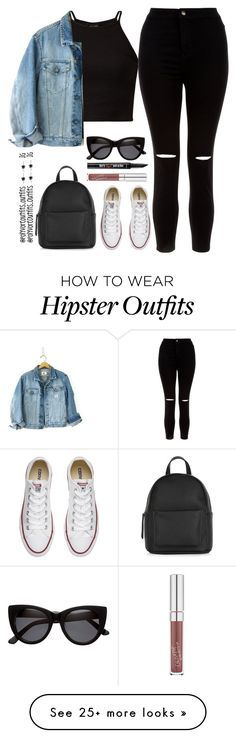 """""""Untitled #814"""" by outfits-outfits on Polyvore featuring New Look, Calvin Klein, Converse, H&M and Benefit"""