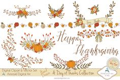 A Day of Thanks - Clipart&Vector