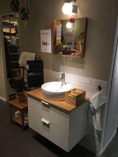 Marvelous Waschtisch Ikea mit Aufsetzwaschbecken wei Bambus Holz