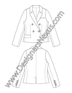 7 best flat drawings images flat sketches blazer blazer jacket Clothing Design Sketches 009 fashion flat sketch double breasted blazer suit jacket fashion design portfolio suit jacket