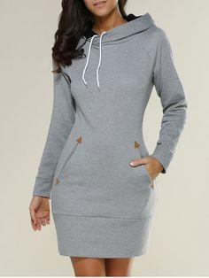 GET $50 NOW | Join RoseGal: Get YOUR $50 NOW!http://www.rosegal.com/long-sleeve-dresses/long-sleeve-mini-hoodie-dress-733372.html?seid=7329543rg733372