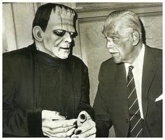 Boris Karloff and friend at Hollywoods Magic Castle Classic Monster Movies, Classic Monsters, Classic Movies, Rock N Roll, Dr Frankenstein, Frankenstein's Monster, Famous Monsters, Vintage Hollywood, Horror Movies