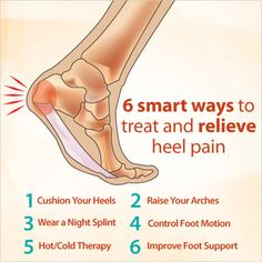 Do you suffer from heel pain or plantar fasciitis? Check out 6 tips that can help relieve it, like wearing shoes with foot support. #FootFactFriday