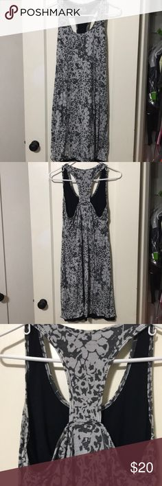 Lola Summer Dress Dark and Light Gray Pattern. Has built in bra. 2 lola Dresses