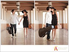 Union Station Engagement Session by Apple and Cheese Wedding Photography