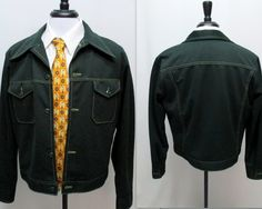 Vintage 70s Men's Leisure Jacket, 70s Leisure Cropped Jacket, 70s Polyester Sport Coat by RosasVintageFinds on Etsy