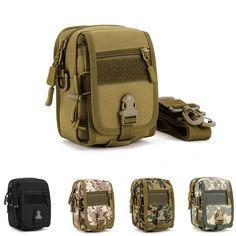 Military Tactical Waist Belt Pouch Messenger Shoulder Bag Pack Outdoor Hiking