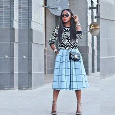 Grid and floral print. Loving this combination.