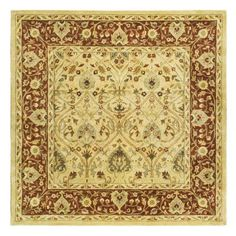 Safavieh Persian Legend PL819D Area Rug - Ivory/Rust - PL819D-6SQ