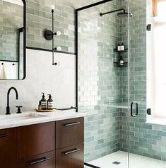 90 Insane Rustic Farmhouse Shower Tile Remodel Ideas - nancey news Diy Bathroom, Bathroom Interior Design, Amazing Bathrooms, Tile Remodel, Bathroom Tile Designs, Scandinavian Bathroom, Bathroom Shower, Bathrooms Remodel, Bathroom Decor