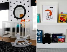 Black and White Geometric Nursery from The C.R.A.F.T. Blog