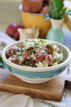 French Potato Salad with Mustard and Fresh Herbs | arcticgardenstudio.com