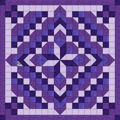 Quilt Kit Faceted Star/Shades of Purple/Precut and Ready to Sew