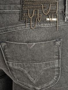 diesel livy faded black jeans (love the detail)