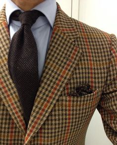 lacasuarina: Madness. Vintage Swaine Adeney (yes, them) tweed SC Finamore shirt Luciano Barbera wool cashmere tie Noname PS Hierbas de Ibi...