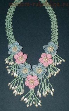 Margo Field inspired Necklace Schema tute - (needs Translation). #Seed #Bead #Tutorials
