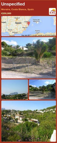 Unspecified in Moraira, Costa Blanca, Spain ►€250,000 #PropertyForSaleInSpain