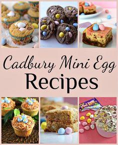 Cadbury mini egg recipes. Love the cupcake w/baby egg cheat with the Cadbury egg.