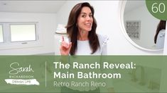 Design Life: Retro Ranch Reno: The Ranch Reveal: Main Bathroom (Ep. 60) Farmhouse Addition, Sunken Tub, Interior Design Videos, Sarah Richardson, Country House Hotels, Basement Bedrooms, Today Episode, Basement Renovations, Sloped Ceiling