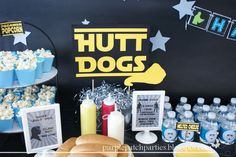 Padawan Popcorn and Hutt Dogs. Cute