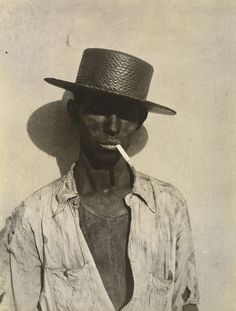 "photo US NB : Walker Evans, 1933, ""Docker, la Havane"", Cuba, Caraïbe, 1930s, portrait d'homme"