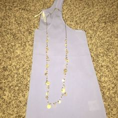 Long gold dangly necklace Great long gold dangly necklace with pink accents! In great condfion, worn a few times. LOFT Jewelry Necklaces